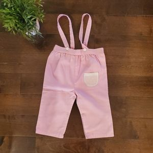 Pink Overalls Vintage 18-24 mos